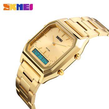 SKMEI Fashion Casual Watch Men Digital Dual Time Sports Chronograph 3bar Waterproof Quartz Wristwatches relogio masculino 1220