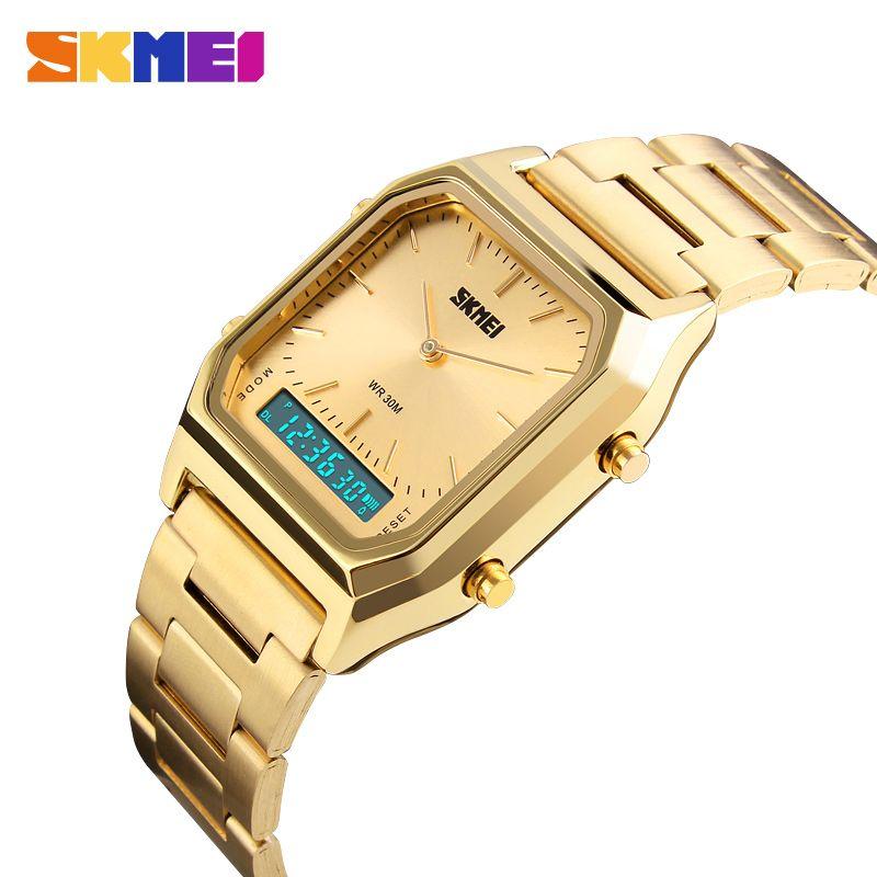 SKMEI montre décontractée à la mode hommes numérique double temps sport chronographe 3bar étanche montres à Quartz relogio masculino 1220