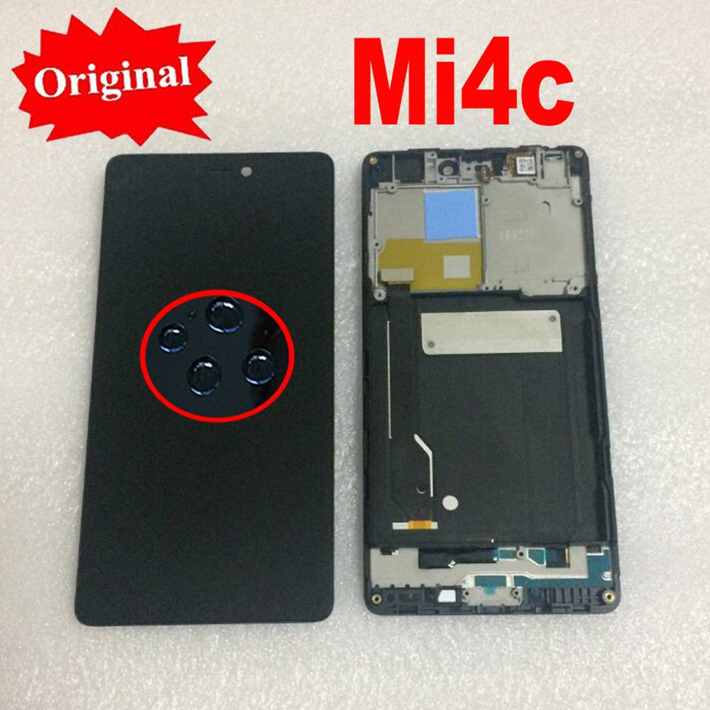 LTPro 5.0'' Original NEW LCD Display Touch Screen Digitizer Assembly with Frame For Xiaomi Mi4C M4C MI 4C Phone Sensor Parts