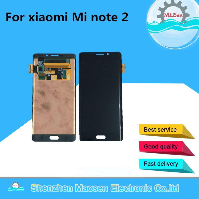 Ursprüngliche M & Sen Für 5,7 xiaomi hinweis 2 Mi note 2 LCD display + touch panel digitizer Schwarz/Silber grau kostenloser versand