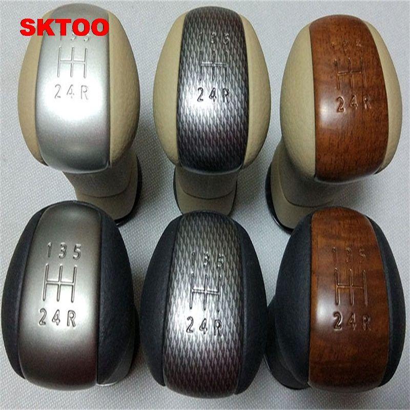 SKTOO Gear Shift Knob for Nissan Qashqai J10 X-trail 06-13 MT 5-Speed