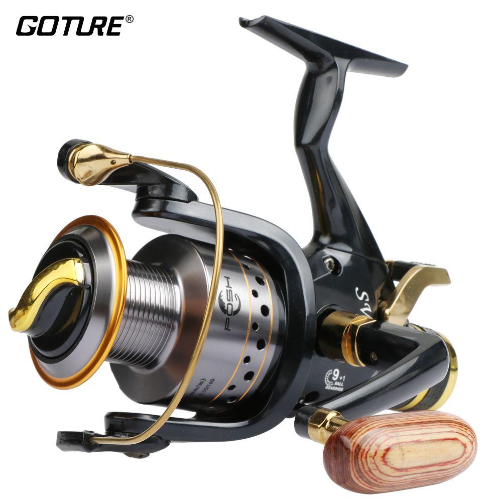 Goture Water Resistant Spinning Reel 5.2:1 9BB+1RB Long Casting Lake Feeder Carp Fishing Reel SW 5000 6000