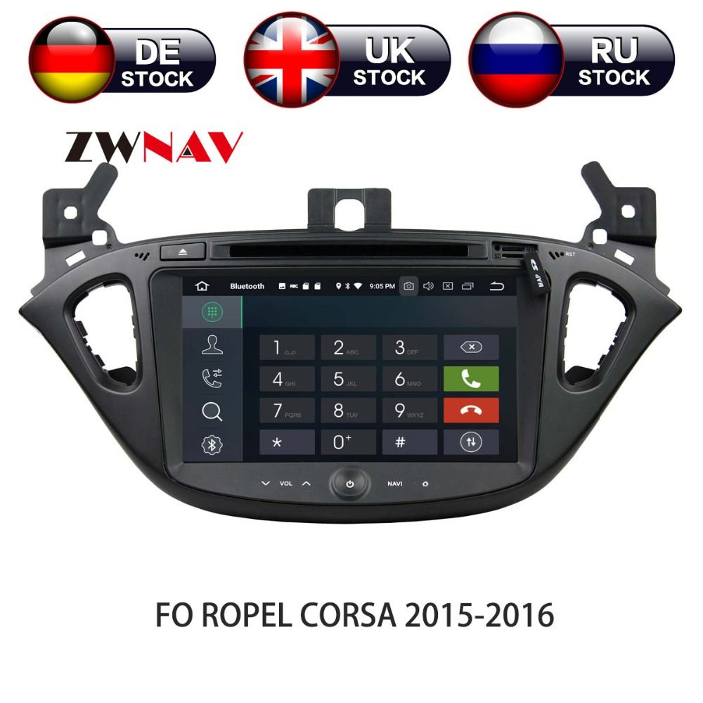 Android 8 4+32G Car DVD Player GPS navigation For Opel CORSA 2015 2016 headunit multimedia player tape recorder