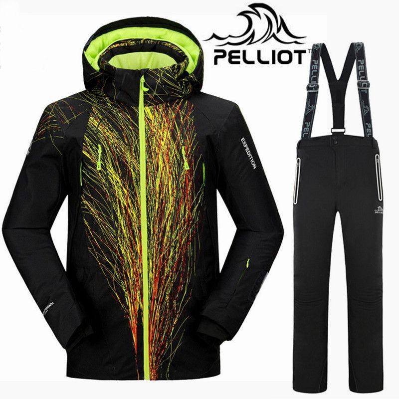 Top Qualität Pelliot Marke Ski Anzug Männer Super Warme Wasserdichte Ski Jacke Snowboard Anzüge Atmungsaktive Outdoor Mountain Ski