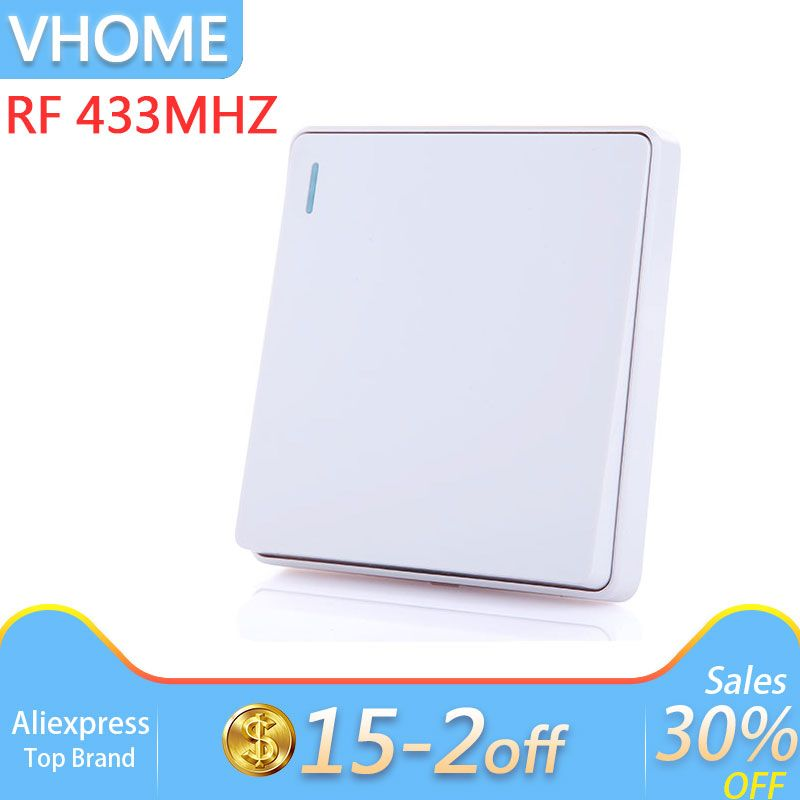 Vhome smart home button remote control wireless RF 433mhz 170-240V 5A For Hall Bedroom Ceiling Lights Wall Lamps