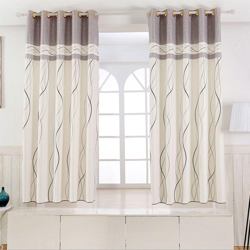 1 panneau court rideaux fenêtre décoration moderne cuisine rideaux motif rayé enfants chambre rideaux (couleur de 6) B16202