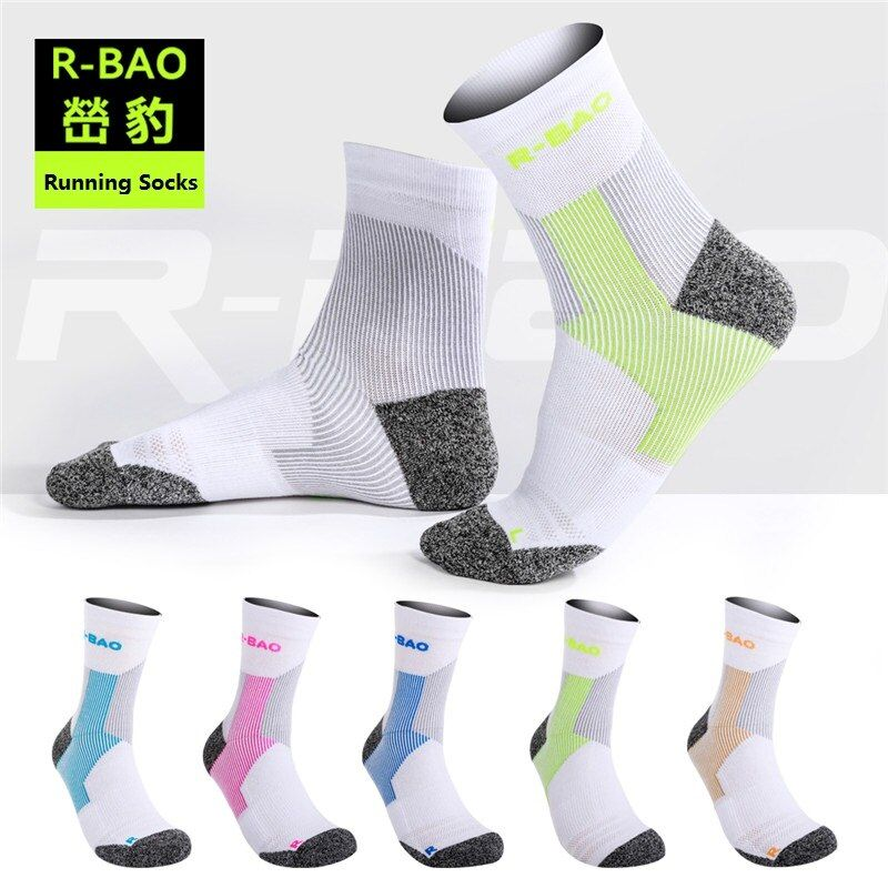 RB054 New Arrival Men/Women Marathon Running Socks High-quality assorted colors LYCRA Protect the Ankle compression sports socks
