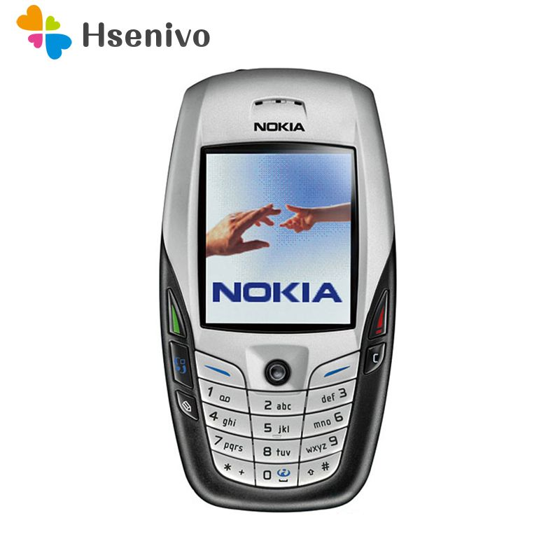 Refurbished Original NOKIA 6600 Mobile Phone Bluetooth Camera Unlocked GSM Triband White & one year warranty
