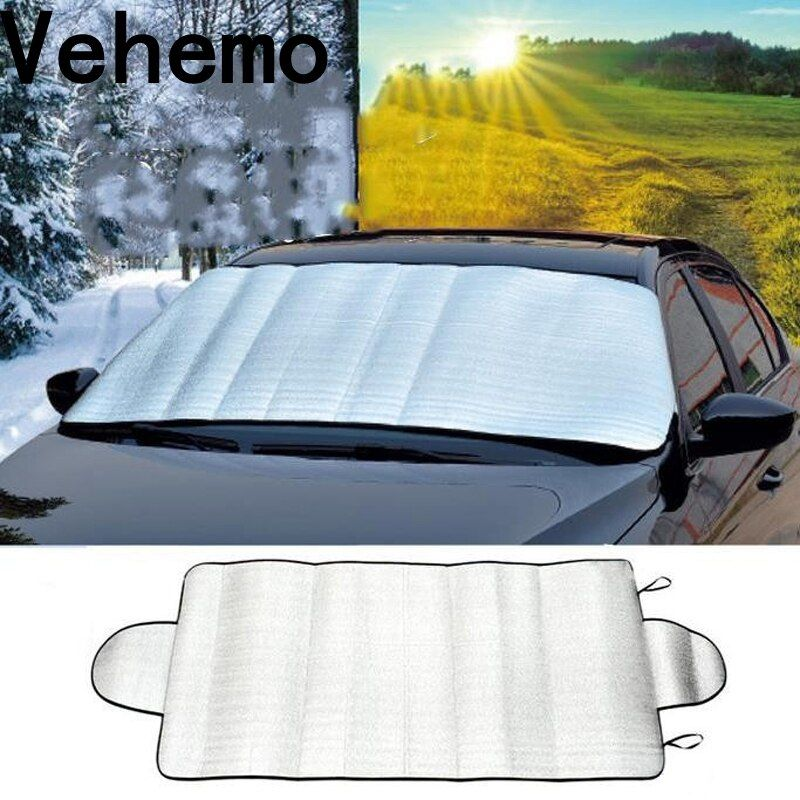 Vehemo 150x70cm PE foam Multi-purpose Car Front Windshield Anti Snow Shield Sun Shade Cover Protector