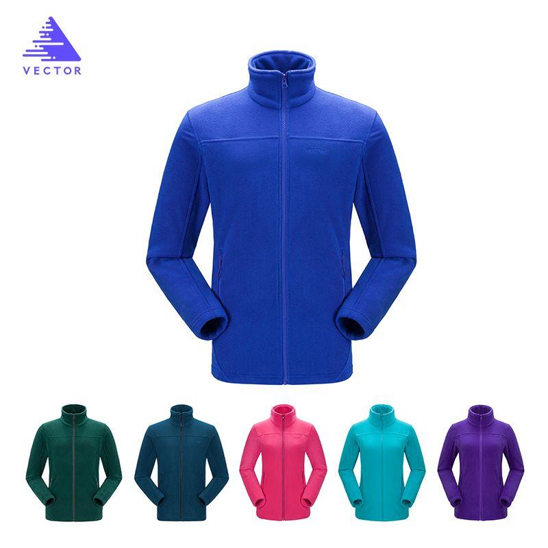 VECTOR Fleece Jacket Women Camping Hiking Jackets Full-Zip Men`s Outdoor Jacket Coat Couples Soft Fleece Jackets 6 <font><b>Colors</b></font>