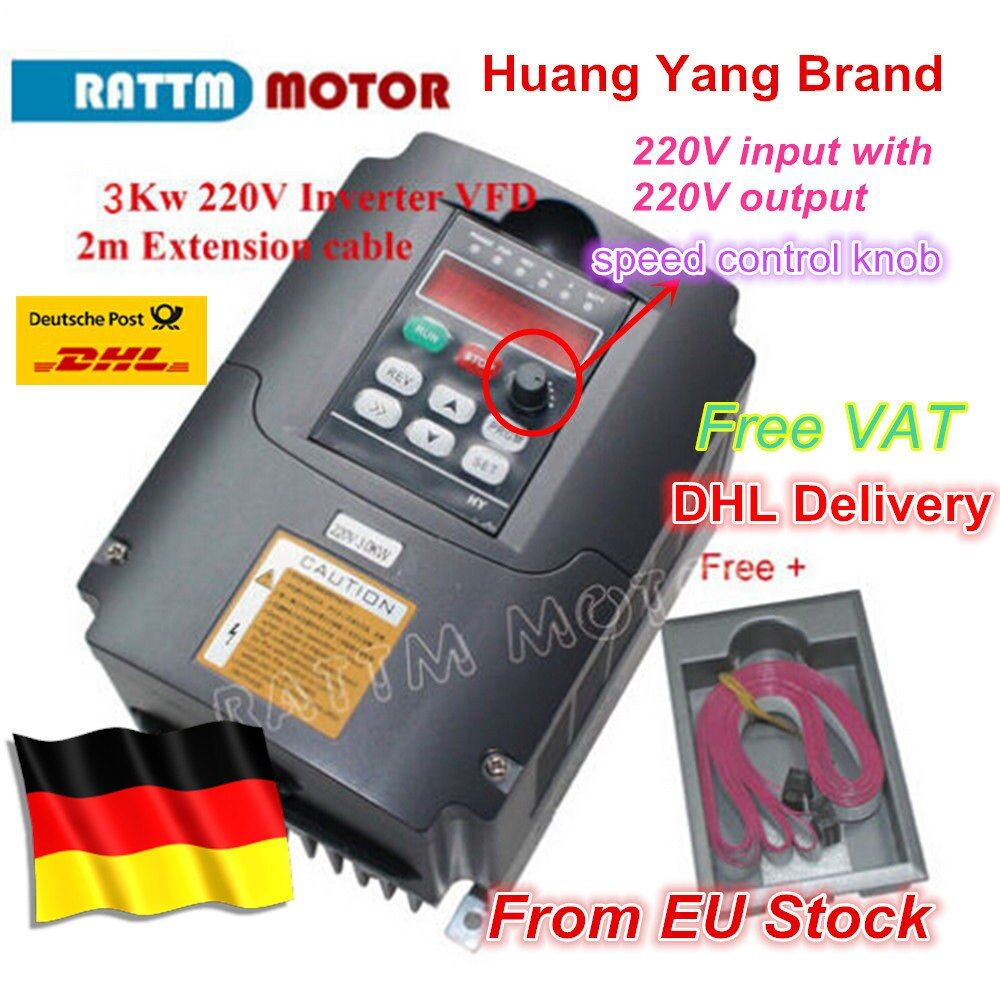 2018 New type 3KW Inverters & Converters 3KW Variable Frequency Drive VFD Inverter 4HP 220V for CNC Spindle motor speed control