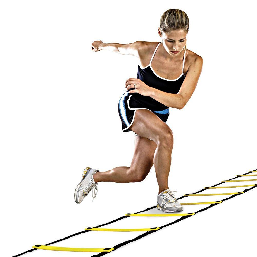 5/8/10 Nylon Sangles Formation Agilité Speed Ladder Escaliers pour le Football Football Training Vitesse Équipements Sportifs