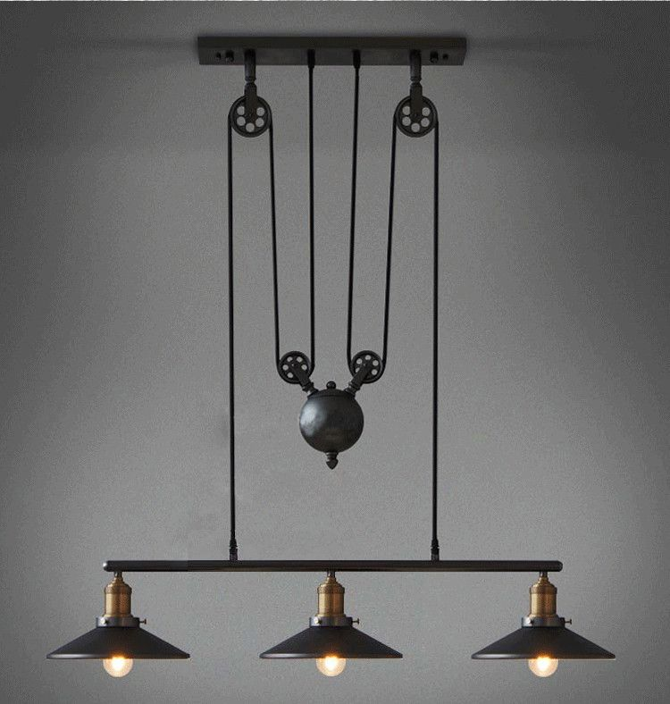 Nice Decor Pendant Lamp,Retro Vintage Pendant Lamps With 3 Lights,Perfectly Match Edison Bulbs For Dinning Room,Living Room