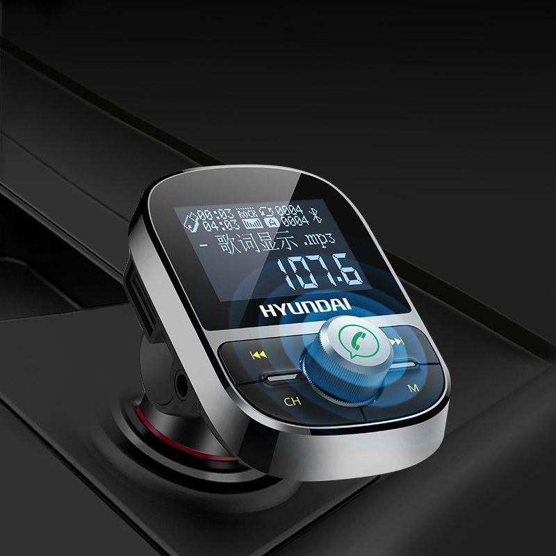 Car MP3 Player Bluetooth FM Transmitter Hands-free Car Kit Audio MP3 Modulator 1.44 Inch Display 2.1A USB Car Charger