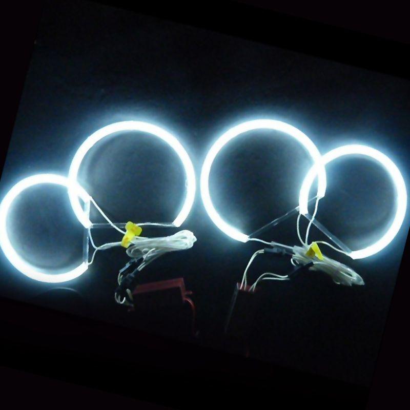 FEELDO 4X131mm White Car CCFL Halo Rings Angel Eyes Headlights For BMW E46,E36,E38,E39 Light Kits #AM4170