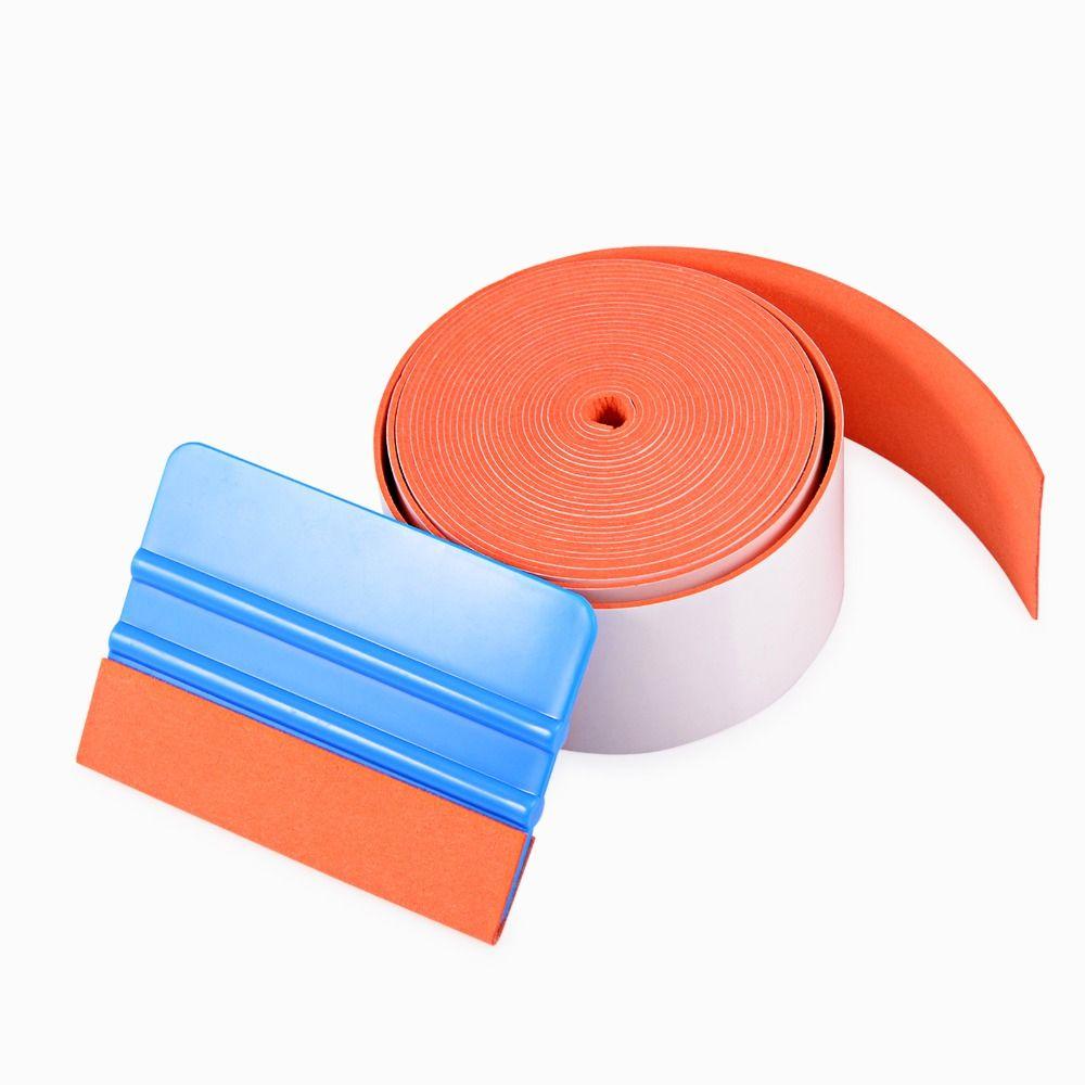 EHDIS 500 CM Suede Feutre Bord Tissu Pour Voiture Grattoir Raclette Voiture Accessoires Vinyle Film De Voiture Wrap Autocollant Outil Fenêtre teintes Outil