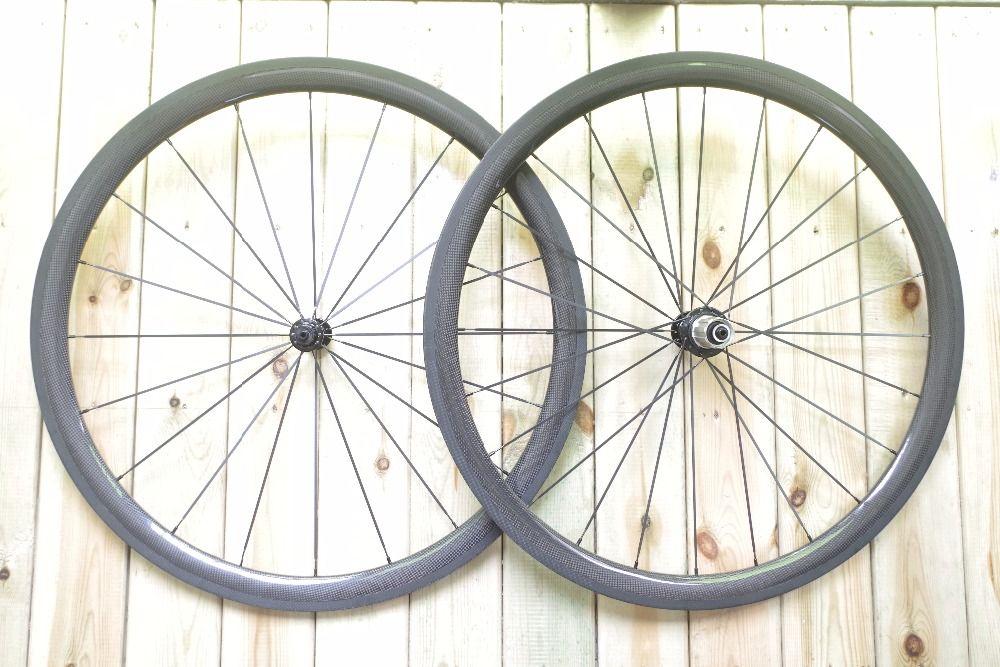 DEERACE 1053g SUPER LICHT 16/20 H 38mm 700c Carbon Rohr Rennrad Räder 23mm Breite fahrrad Wheelset POWERWAY R13/R36 Naben