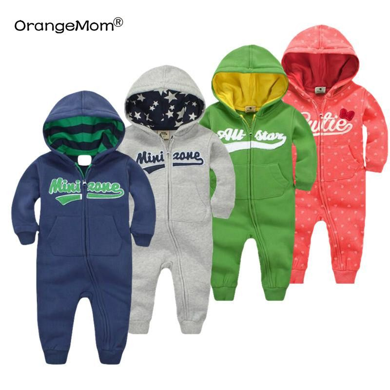 2018 spring Baby rompers Newborn Cotton tracksuit <font><b>Clothing</b></font> Baby Long Sleeve hoodies Infant Boys Girls jumpsuit baby clothes boy