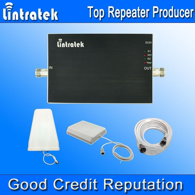 New Arrival GSM Repeater 900 1800 Amplifier Booster GSM 900 1800 mhz Lintratek Dual Band Signal Booster Full Kit Wholesale #33