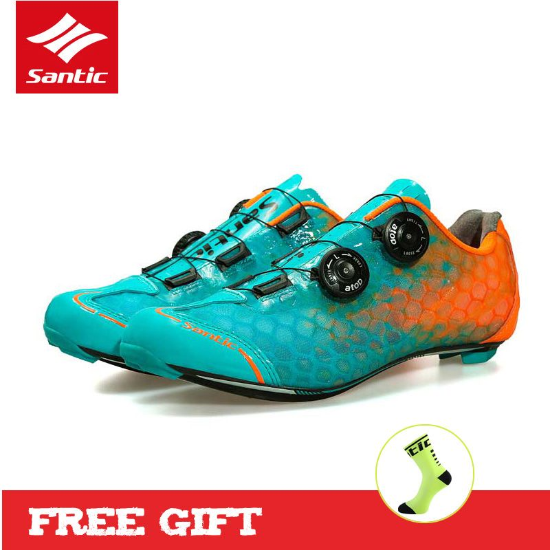 SANTIC Level 10 Carbon Fiber Ultralight Cycling Shoes Road Bicycle Sneakers Men's Pro Racing Zapatillas Ciclismo Bike Shoes 2017