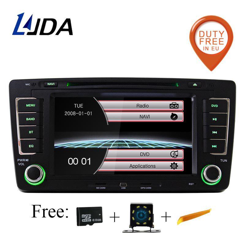 LJDA Zwei Din 7 Zoll Auto-Multimedia-Player Für SKODA Octavia 2009-2013 DVD Stereo GPS Navigation Radio Autoaudio steuergerät Canbus