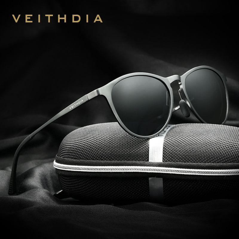 VEITHDIA Vintage rétro marque Designer Original boîte lunettes de soleil hommes/femmes hommes lunettes de soleil gafas oculos de sol masculino 6625