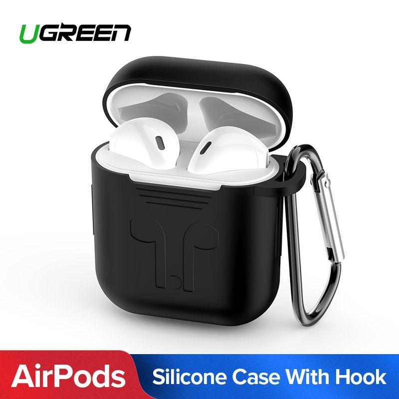 Ugreen Kopfhörer Fall für Apple AirPods Silikon Abdeckung Drahtlose Bluetooth Kopfhörer Luft Schoten Tasche Schutzhülle AirPod Zubehör