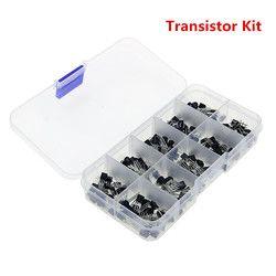 Transistor Assortiment Kit BC337 BC327 2N2222 2N2907 2N3904 2N3906 S8050 S8550 A1015 C1815 10 valeur 200 PCS Transistors Box Pack