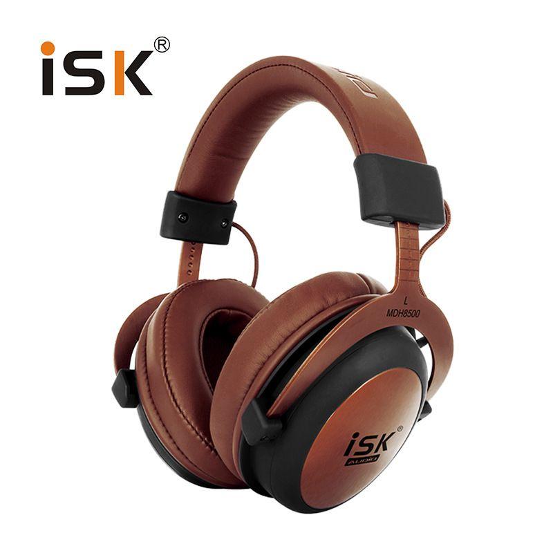 Оригинал ISK mdh8500 Профессиональный Мониторы Studio наушники закрытые динамические мощный DJ за ухо Hi-Fi гарнитура auriculars
