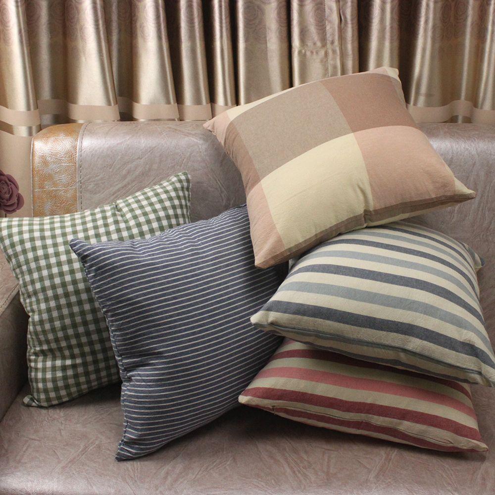 Multi Farben Streifen Plaid Plain 100% Gewaschener Baumwolle Kissenbezüge/Dekokissen Covers Dekorative Geschenke für Zu Hause Speichern Hotel