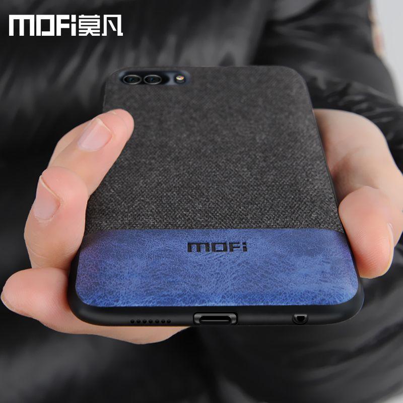 Huawei honneur 9 cas couverture honor9 couverture arrière silicone bord antichoc hommes d'affaires tissu cas coque MOFi d'honneur origine 9 cas