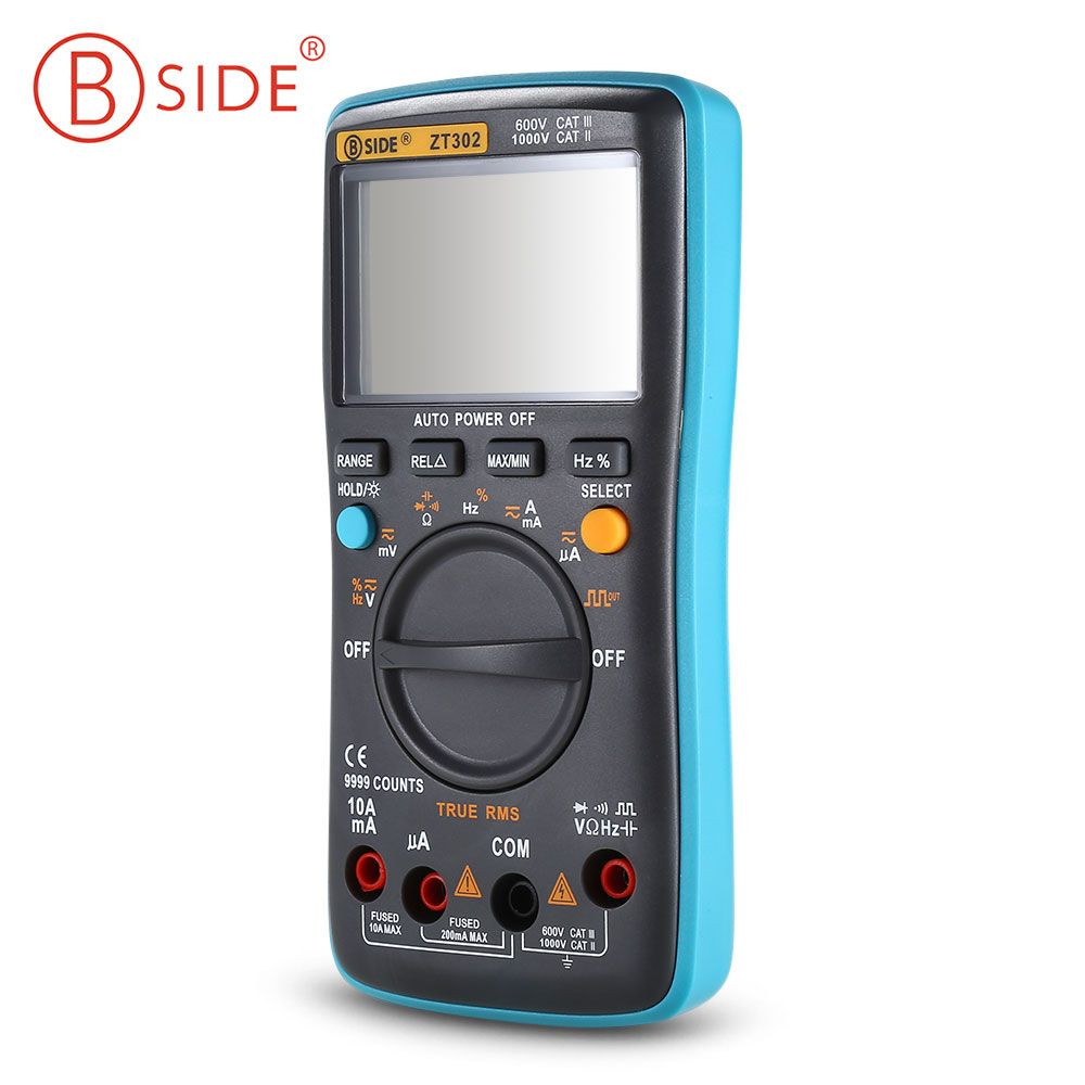 BSIDE ZT302 Portable Handheld Digital Multimeter 9999 Counts LED Backlight Large LCD Display Electrical Test Diagnostic Machine