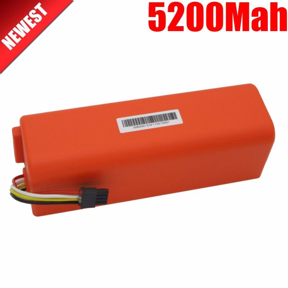 NEW 5200mAh li-ion 18650 mi robot Vacuum Cleaner accessories parts battery for xiaomi mi robot Robotics cleaner