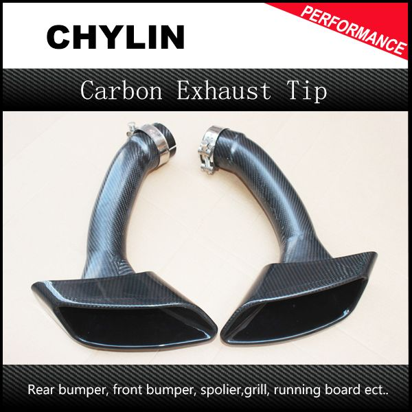 Top Quality X6 E71 Full Carbon Fiber Exhaust Tips With Stainless Steel Clamp Carbon Exhaust Pipe for BMW X6 E71