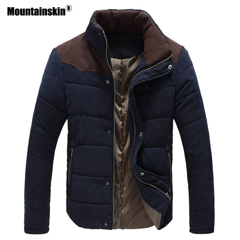 Mountainskin Autumn Winter Men's Parka Cotton Warm Coats Thick Jackets Padded Overcoat Male Outerwear Mens Brand Clothing SA587
