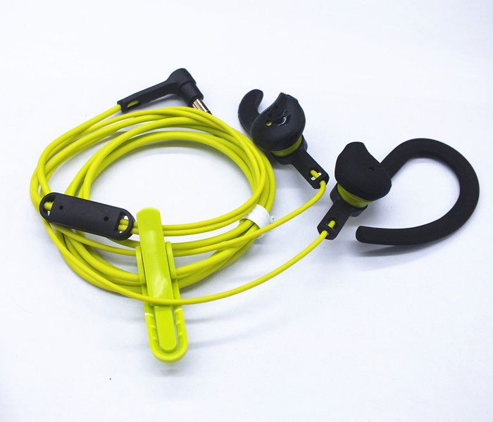 Fashion Professional sports headphones 3.5mm Headset Wired Ear Bass earphone stereo running Earbud Sweat proof Waterproof