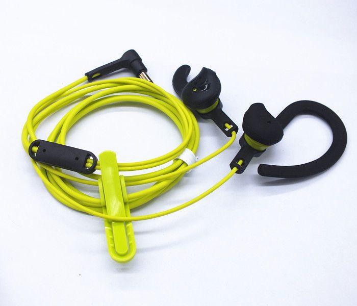 Mode sport professionnel casque 3.5mm casque filaire oreille basse écouteur stéréo en cours d'exécution écouteurs anti-transpiration étanche