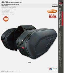 Un conjunto SA212 impermeable alforjas motocicleta Moto casco bolsa lateral cola equipaje maleta con cubierta para la lluvia