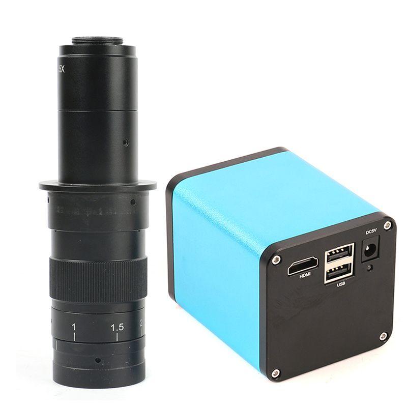 Autofokus Mikroskop HDMI Kamera 1080 P 60FPS SONY IMX290 Hohe geschwindigkeit bild sensor 120/180X C-Mount Objektiv für PCB Reparatur Bewertung