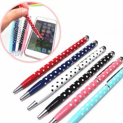 (1Pcs/sell) Pure Color Wave Point Ballpoint Pens Stationery Ballpen Stylus Pen Touch Pen Oily Black Refill Ball Point Pen 0.7mm