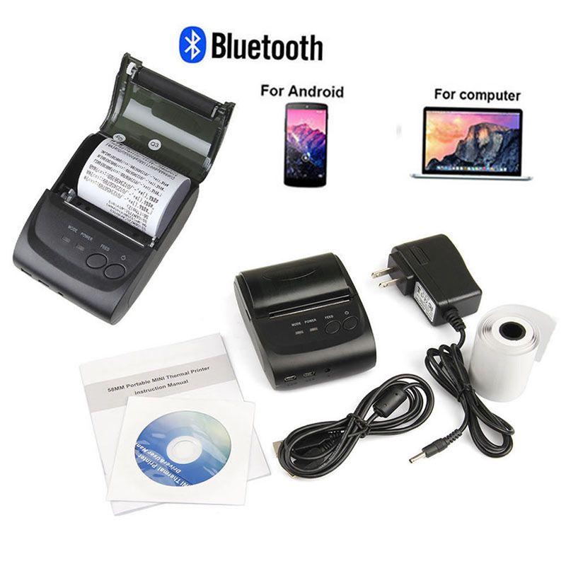 US/EU Tragbare Mini 58mm Bluetooth-thermo-belegdrucker Für Android Mobile