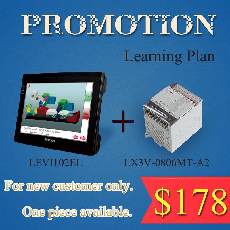 Learning plan Wecon 10.2 inch HMI and 14 digital I/O PLC(transistor)