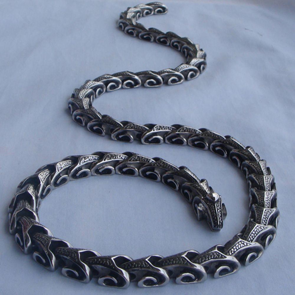 16-40 ''longitud varían enlace dragón hombres/boy joyería punky 316L de acero inoxidable 2 tipo de método de desgaste collares de cadena o de la pulsera 1 unid