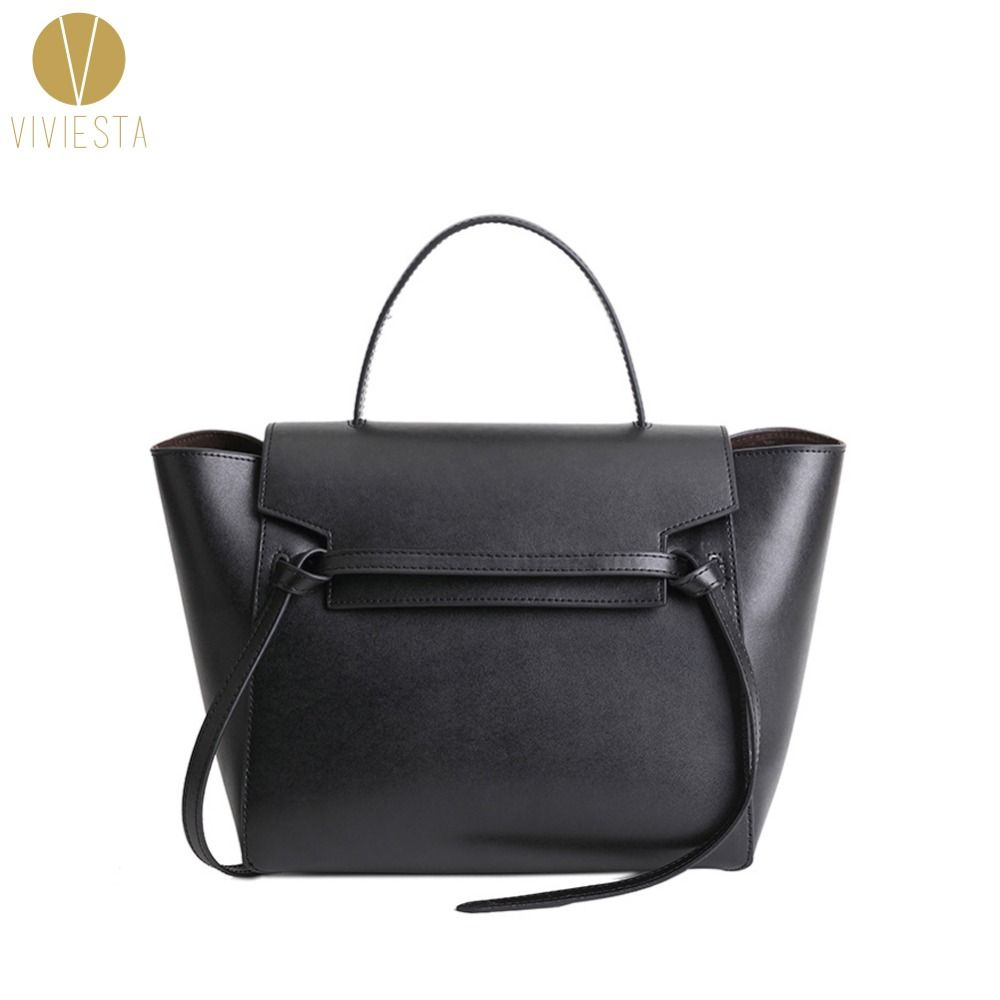 GENUINE LEATHER BELT KNOT LARGE TOTE BAG - 2018 Women's Designer Famous Brand Fashion Trapeze Phantom Shoulder Bag Handbag Bolsa