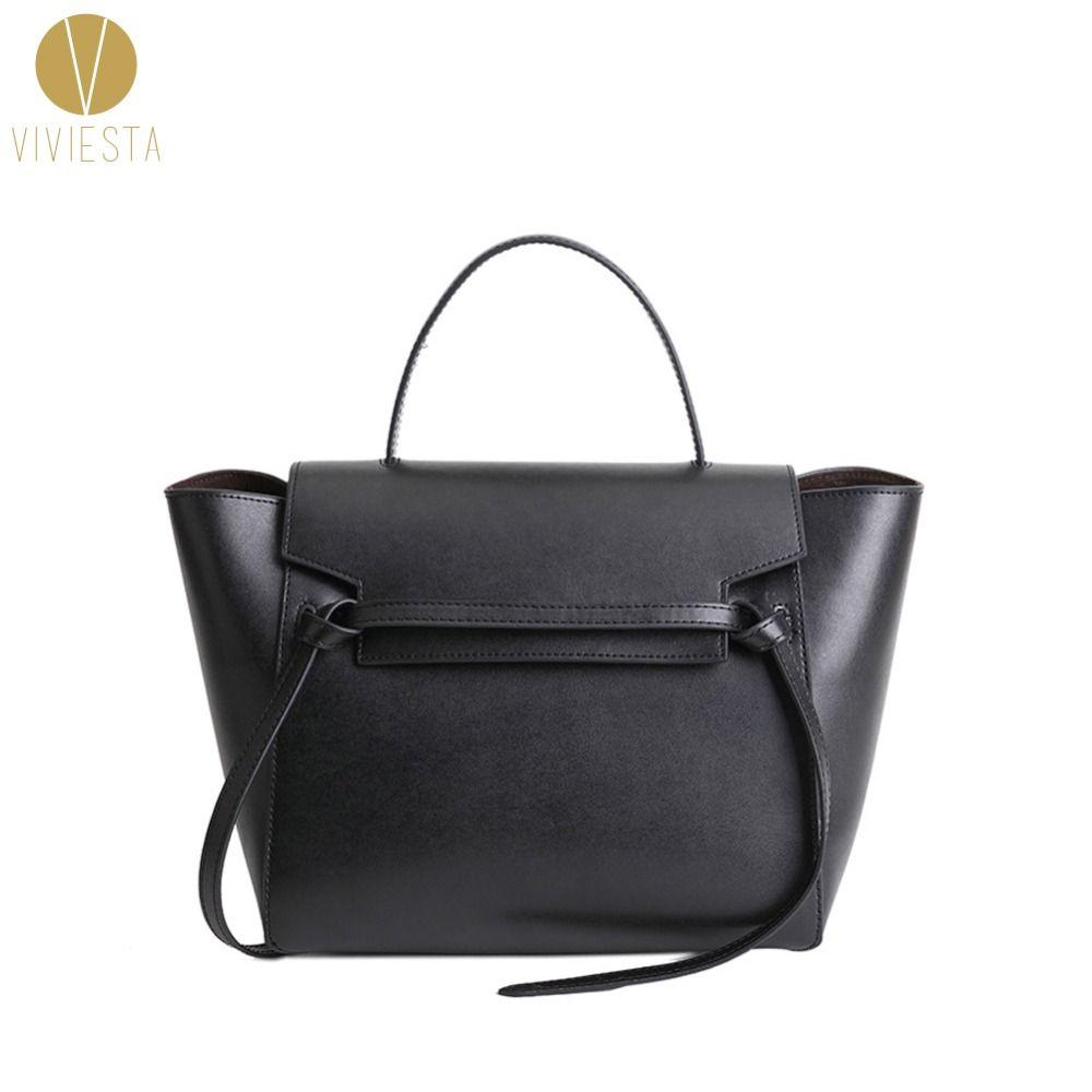 GENUINE LEATHER BELT KNOT LARGE TOTE BAG - 2018 Women's Designer Famous Brand Fashion Trapeze Phantom Shoulder Bag Handbag Bolsa