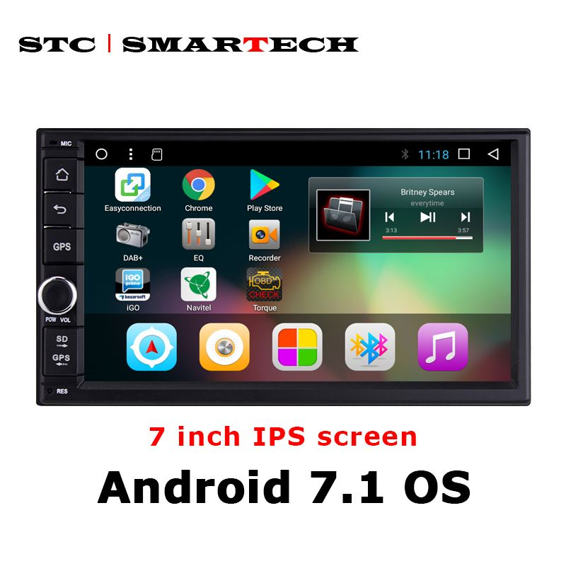 SMARTECH 2din Android 7.1 Car GPS Navigation Autoradio System For Nissan Toyota Suzuki Hyundai Honda Support DAB DVR TPMS OBD 4G