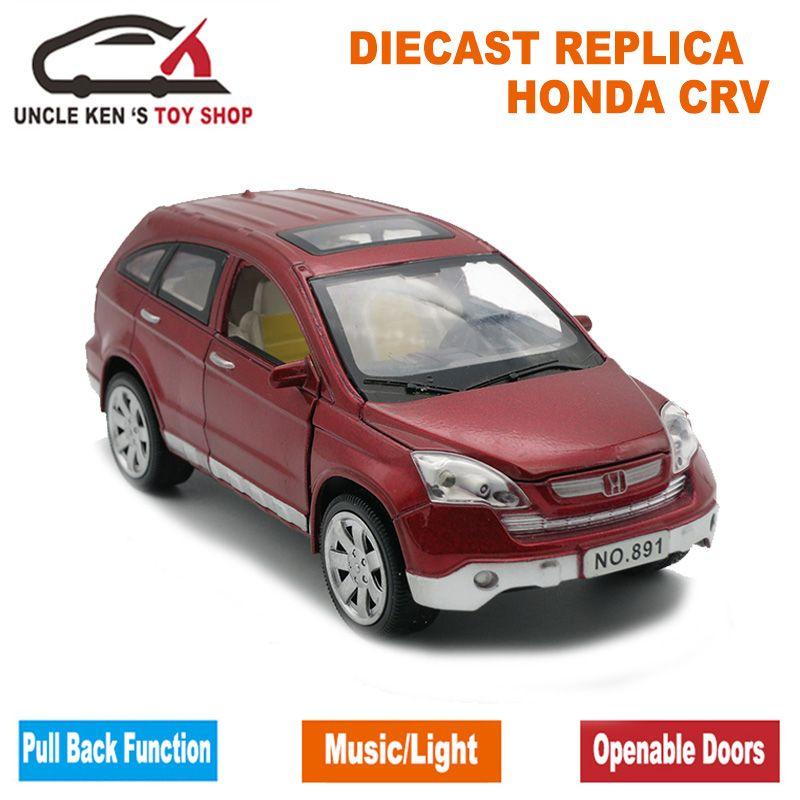 1/24 шкалы 20 см длина литья под давлением Honda CRV Модель автомобиля игрушки для мальчиков/Дети с подарочной коробке/открываться двери/музыка/от...