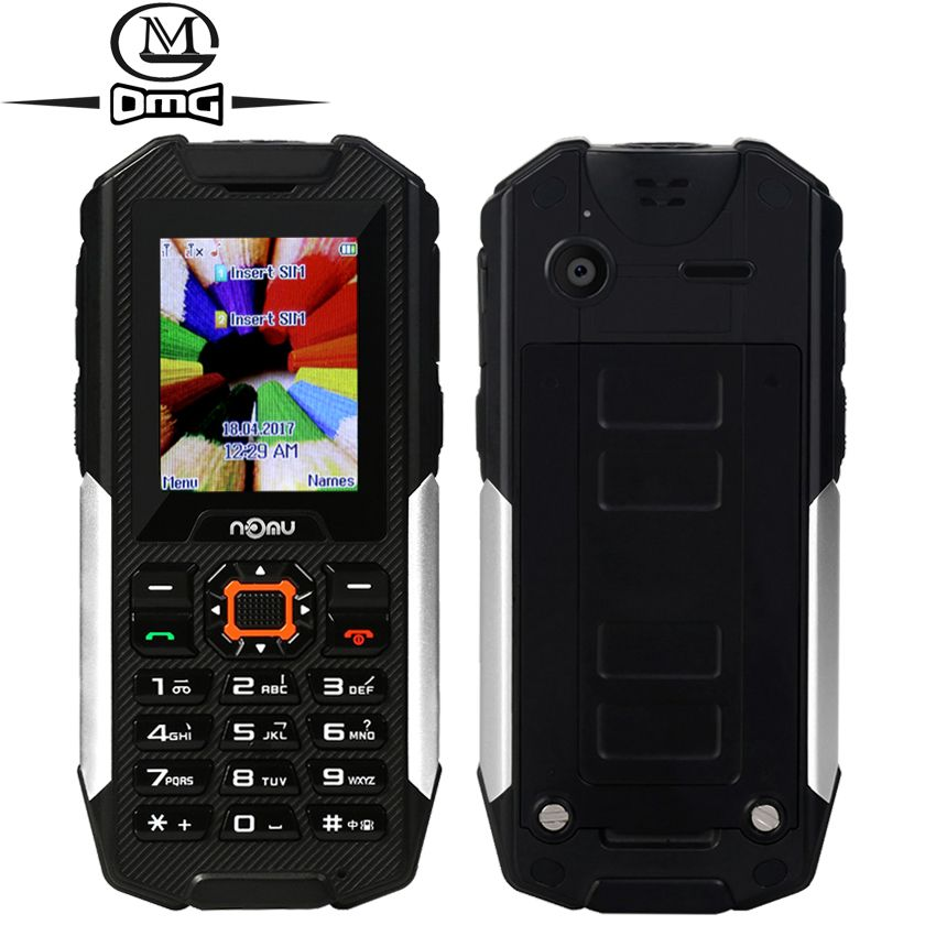Nomu T10 IP68 Waterproof shockproof GSM mobile cell phone Dual sim 2800Mah power bank Led Flashlight Telephones