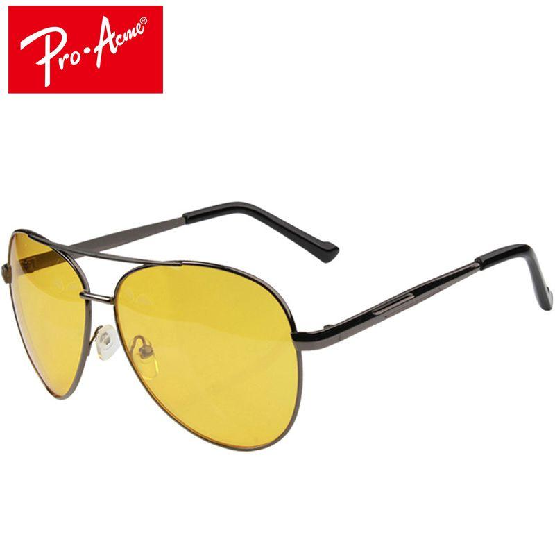Pro Acme пилот Ночное видение очки вождения желтые линзы классический с антибликовым покрытием Видение безопасности водителя очки для Для муж...