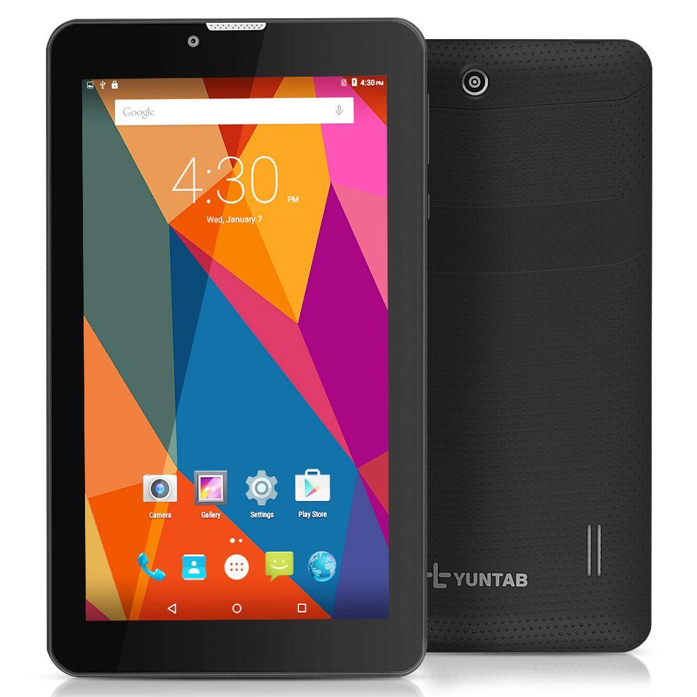 7 ''E706 Yuntab GPS Double Mini Carte SIM 1.2 GHz Quad Core Cortex A7 IPS Double Caméra 1 GB Ajouter 8 GB Appel Téléphonique Tablet PC